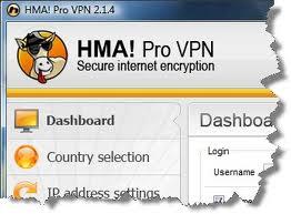 HMA Pro VPN Screenshot