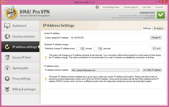 VPN IP change